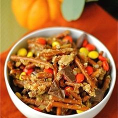 The best ever candy snack mix for Halloween!
