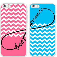 Pink Blue Chevron Infinity Best Friends Case Cover Two Set For iphone 6 6S Plus | Cell Phones & Accessories, Cell Phone Accessories, Cases, Covers & Skins | eBay!