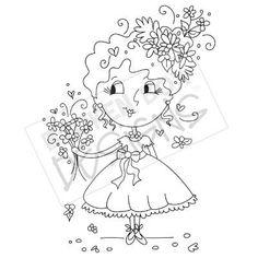 Flower Girl Toodle (Digi-Stamp)