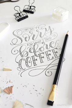 The difference between Calligraphy, Lettering, and Typography (basics for beginners) Hand Lettering Alphabet, Hand Lettering Quotes, Creative Lettering, Types Of Lettering, Brush Lettering, Chalk Lettering, Lettering Ideas, Calligraphy Qoutes, Learn Calligraphy