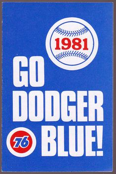 1981 LOS ANGELES DODGERS UNION 76 BASEBALL POCKET SCHEDULE FREE SHIPPING
