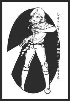 Bernice drawn as a commission by comic artist Emma Vieceli.