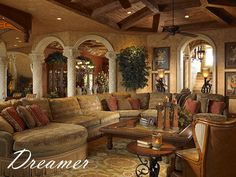 mediterranean furniture style living room - Google Search