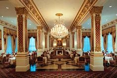 Crystal Dining Room... La Pavillion  Hotel in New Orleans, Louisiana!  Excellent Food ...