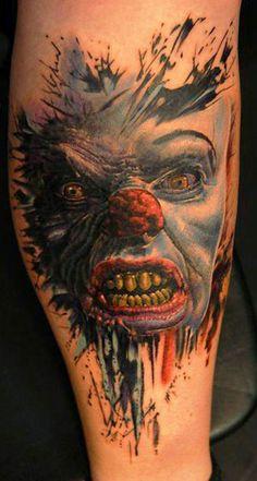 Tattoo Artist - Andy Engel - clown tattoo