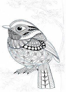 EFIE goes Zentangle - Ben Kwok Flycatcher --by Efie