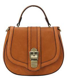 Love this Camel Buckle Crossbody Bag by Handbag Republic on #zulily! #zulilyfinds