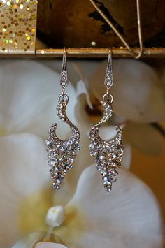 Lavished Beauty Swarvoski Crystal Earrings, Dangle Earrings, Chandelier Earrings, Weddings Jewelry, Bridal Earrings, Crystal Earrings