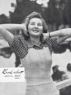 tank top style vest. I knew I'd seen one before! 1940s Vintage Knitting Patterns  PDF Copy of by GrannyspdfPatterns