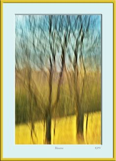 Bäume Gelb Blau Verwischt