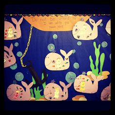 Jonah and the Whale Bulletin Board.  So cute!