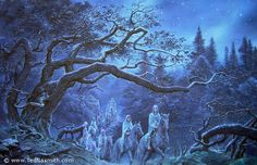 Elves in the Woody End by Ted Nasmith