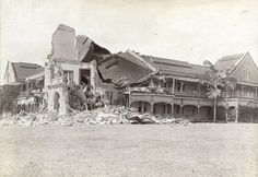 Mico College After 1907 Earthquake, Kingston, Jamaica