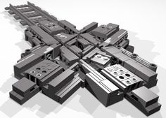 Lego Train Diamond Crossing (version 7)