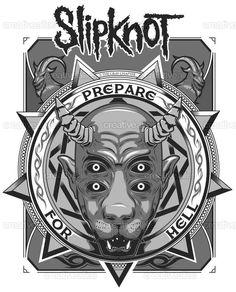 Slipknot Merchandise Graphic by Diego Desfase on CreativeAllies.com