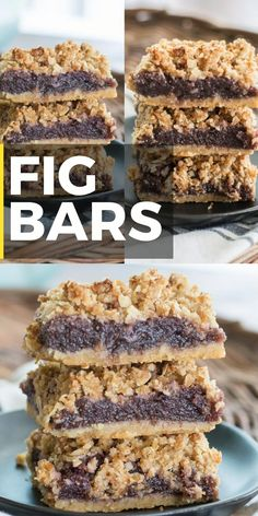 You will love these Easy Fig Bars for a sweet treat. These bars feature an almond flour crust, sweet fig filling and a crumble pecan topping! Köstliche Desserts, Delicious Desserts, Filipino Desserts, Fig Dessert Recipes Vegan, Fig Jam Recipes, Fig Recipes Gluten Free, Plated Desserts, Recipes With Figs, Fig Recipes Healthy