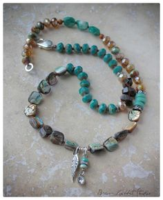 """""""For the love of Turquoise"""" wrap bracelet, Boho Luxe collection 