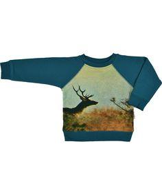 Baba Babywear fantastische trui met hertenprint. baba-babywear.nl.emilea.be