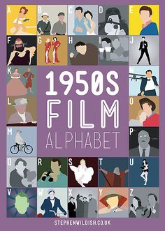 Stephen Wildish from the UK - 50s, 60s, 70s, 80s, 90s, and 00s alphabet film posters - wow.