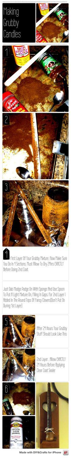 Grubby Candles  #DIYCraftsEditor #DIY #iOS @DIY & Crafts Editor iPhone App