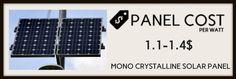 Mono Crystalline ( solar panels cost image-2)