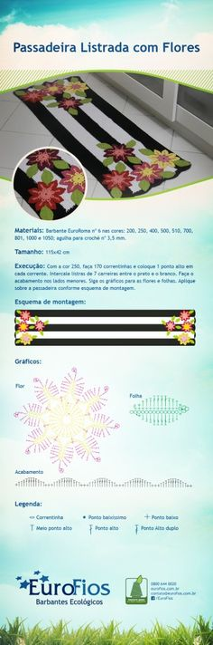 Receita Pssadeira Listrada com Flores