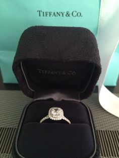 I've officially fallen for the Tiffany Soleste Cushion Cut Engagement Ring