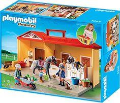 PLAYMOBIL 5348 - Aufklapp-Spiel-Box, Mein Pferdestall zum Mitnehmen