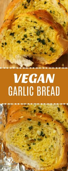 VEGAN GARLIC BREAD Garlic bread is not the best. I mean, is there anyone who doesn't like garlic bread? If so, I've never met them. # Bread # Garlic Bread Source by Vegan Garlic Bread, Homemade Garlic Bread, Vegan Bread, Homemade Recipe, Vegan Side Dishes, Side Dish Recipes, Naan, Delicious Vegan Recipes, Vegetarian Recipes