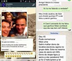 Vazou: às 19:30 de domingo, Aécio recebeu telefonema que dizia que ele já era o novo presidente. O apartamento de sua irmã, Andréa Neves, em Belo Horizonte, estava em festa