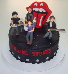 A Rolling Stones cake to rival Delia Smith's Let It Bleed cover.