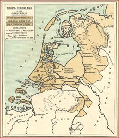 Earth Science, Science Nature, Netherlands Map, Prince Of Orange, European Map, Old Maps, Topographic Map, Historical Maps, Archaeology