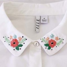 Floral Embroidered Collar Tutorial