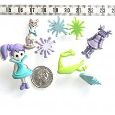 Space Cutie Novelty Buttons Scrapbooking Quilting #296