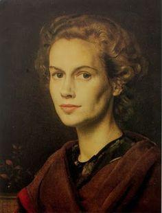 Nosotros Somos Quien Somos: Ayer Retratode una mujer. 1951. Pietro Annigoni. Pintor
