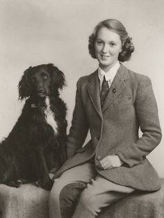Jane Goodall with friend dog...