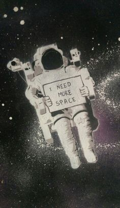 I need more space! Stencil art by @romeotees