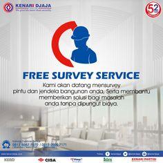 Hubungi Kami Segera Untuk Mendapatkan Layanan Survey Secara GRATIS Guna Membantu Memberikan Solusi Untuk Masalah Pintu dan Jendela Anda.  Informasi Hub. : Ibu Tika 0812 8567 7070 ( WA / Telpon / SMS ) 0819 0506 7171 ( Telpon / SMS )  Email : digitalmarketing@kenaridjaja.co.id  [ K E N A R I D J A J A ] PELOPOR PERLENGKAPAN PINTU DAN JENDELA SEJAK TAHUN 1965  SHOWROOM :  JAKARTA & TANGERANG 1 Graha Mas Kebun Jeruk Blok C5-6 Telp : (021) 536 3506, Fax : (021) 530 0592
