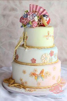 日本風結婚式にオススメ♩《和》デザインが可愛いウェディングケーキ10選*にて紹介している画像