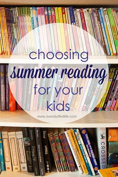 Choosing Summer Reading for kids. Studies show that by reading just 12 books over the summer can help lessen summer learning loss and keep kids' minds sharp.