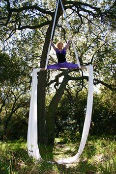 Aerial silks tissu cirque