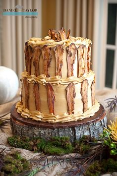 Robs Delicious Maple Bacon Grooms Cake From Dreamcakes Bakery Caused Quite A Stir Among Guests Photo By Daniel Taylor Photography