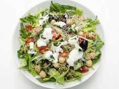 Rather than crumbling feta on top of salad, make a creamy feta dressing — all you need is feta, olive oil and a splash of water. Try it in Food Network Magazine's Greek Quinoa Salad.