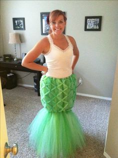 Adult Tulle Mermaid costume Carson should so do this with her red hair she would make a great little mermaid :)