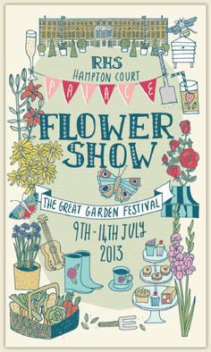 hampton court flower show poster - Google Search