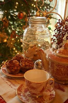 Old Fashioned Charm - way prettier than stacks of plastic containers to store Christmas treats