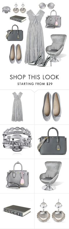 """Silver"" by silvia-viotti ❤ liked on Polyvore featuring Ulla Johnson, MCM, E. Lawrence, Ltd., Miu Miu and Linda Farrow"