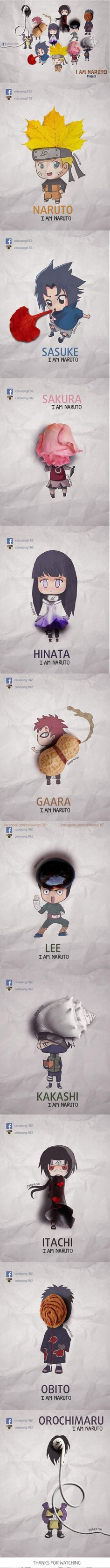 I haven't even watched Naruto, but this is amazing. Naruto's Character by Nguyen Quang Huy