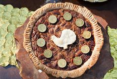 Bourbon Pecan & Chocolate Gelt Pie