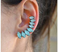 Brinco ear cuff Juliana Manzini azul